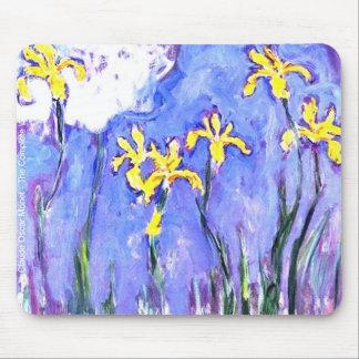 laude Monet Yellow Irises Mouse Pad
