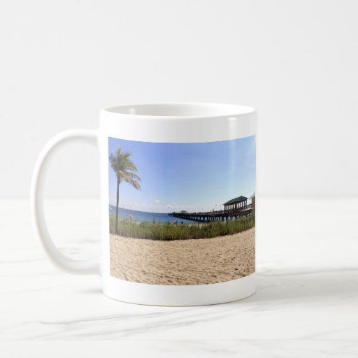 Lauderdale-by-the-Sea, Florida Beach and Pier Coffee Mug