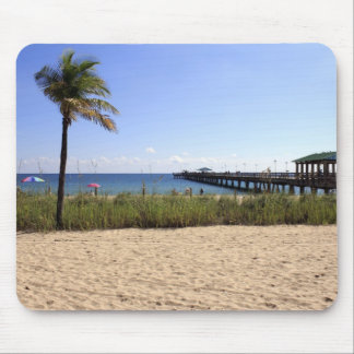 Lauderdale-by-the-Sea, Florida Beach and Pier Mouse Pad