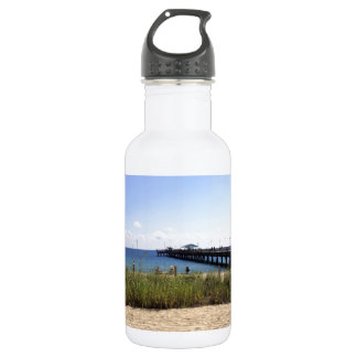 Lauderdale-by-the-Sea, Florida Beach and Pier 18oz Water Bottle