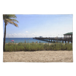 Lauderdale-by-the-Sea, Florida Beach and Pier Placemats