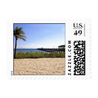 Lauderdale-by-the-Sea, Florida Beach and Pier Postage Stamps