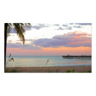 Lauderdale-by-the-Sea, Florida Sunset Double-Sided Standard Business Cards (Pack Of 100)