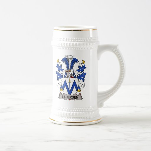 Lauersen Family Crest Mugs