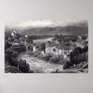 Lauffenberg, grabado por el E.P. Brandard Póster