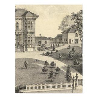 Laugenour residence, Woodland Postcard