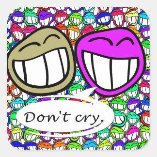 laugh-116521   laugh faces grin smilie smile joy f square sticker