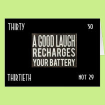 """LAUGH A LOT NOW THAT YOU ARE """"30"""" and """"NOT 29"""" Card"""