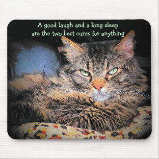 Laugh and Long Sleep is the Cure Mouse Pad