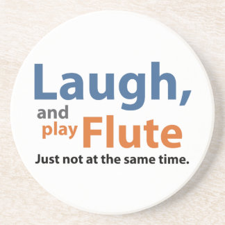 Laugh and Play Flute Drink Coaster