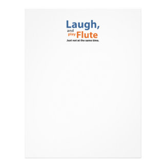 Laugh and Play Flute Letterhead