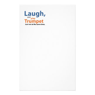 Laugh and Play Trumpet Stationery