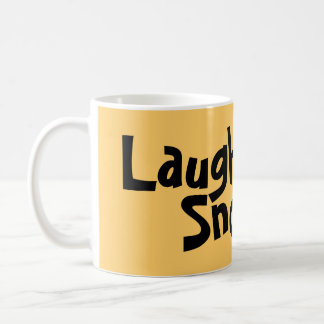 Laugh - and the world laughs with you classic white coffee mug