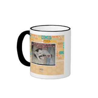 Laugh and the world laughs with you ringer coffee mug