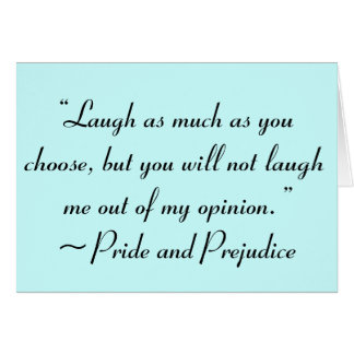 Laugh as Much as You Choose Jane Austen Quote Card