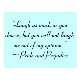 Laugh as Much as You Choose Jane Austen Quote Postcard
