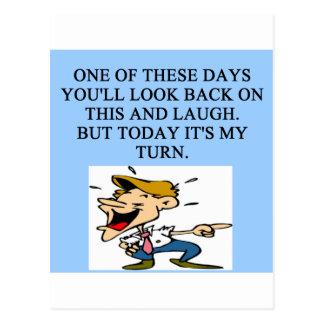 laugh at you postcard