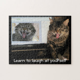 Laugh at yourself jigsaw puzzle