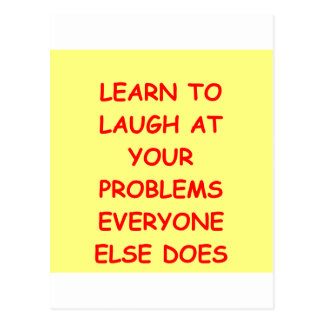 laugh at yourself postcard