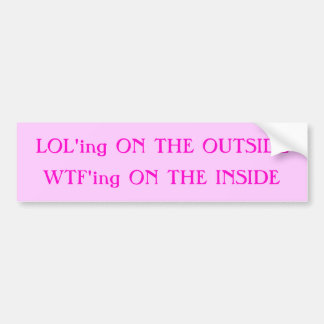 Laugh Bumper Sticker