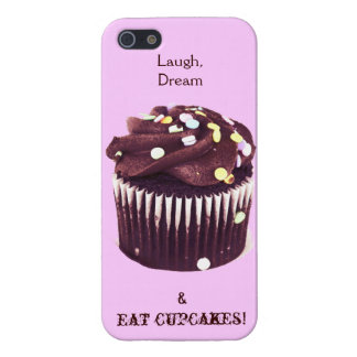 laugh, dream and eat cupcakes iPhone SE/5/5s cover