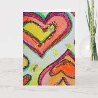 Laugh Hearts Card card
