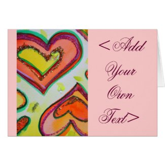 Laugh Hearts Greeting Card or Note cards