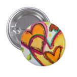 Laugh Hearts Connect Art Buttons or Lapel Pins