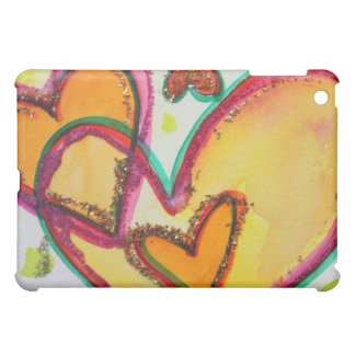 Laugh Hearts Connect Art Painting iPad Hard Case iPad Mini Case