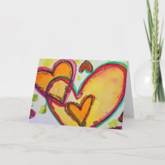 Laugh Hearts Connect Greeting Cards or Note Cards
