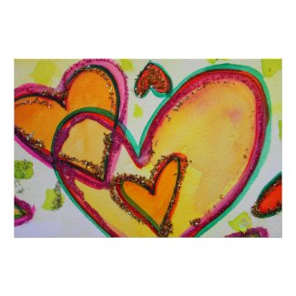 Laugh Hearts Connect Painting Art Poster Print