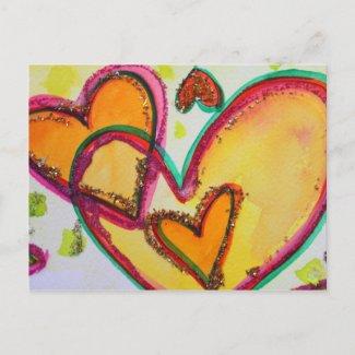 Laugh Hearts Connect Postcard postcard