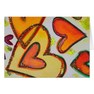 Laugh Hearts Crossing Greeting Cards and Note Card