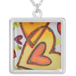 Laugh Hearts Crossing Necklace Charm Pendants necklace