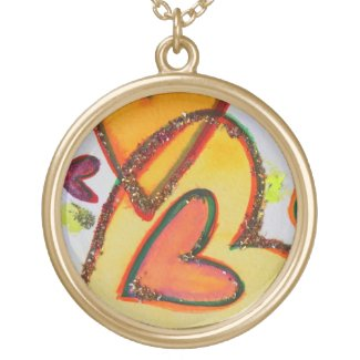 Laugh Hearts Crossing Necklace Jewelry Pendant