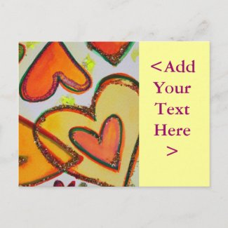 Laugh Hearts Crossing Postcard postcard