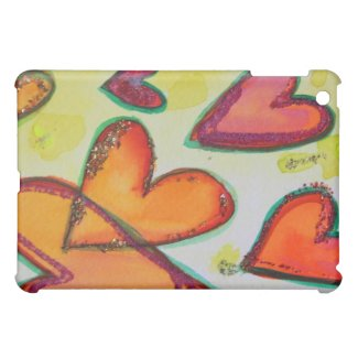 Laugh Hearts Flying Art Painting iPad Hard Case iPad Mini Cover