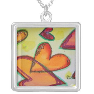 Laugh Hearts Flying Necklace Jewelry Pendant