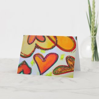 Laugh Hearts Garden Greeting Cards and Note Cards card
