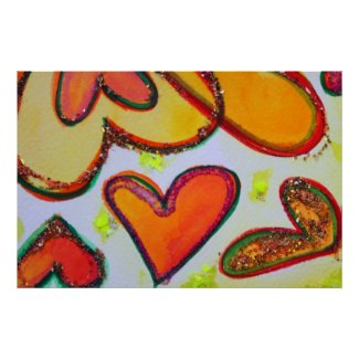 Laugh Hearts Garden Painting Art Poster Print print