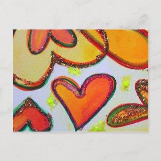 Laugh Hearts Garden Postcard postcard