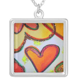 Laugh Hearts Garden Silver Necklace Jewelry Charm necklace