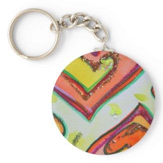 Laugh Hearts Keychain keychain