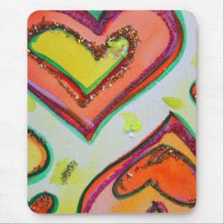 Laugh Hearts Mousepad