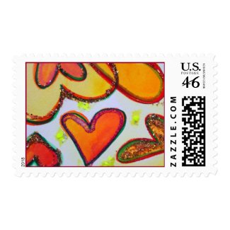 Laugh Hearts Postage stamps