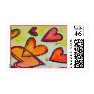 Laugh Hearts Postage stamp