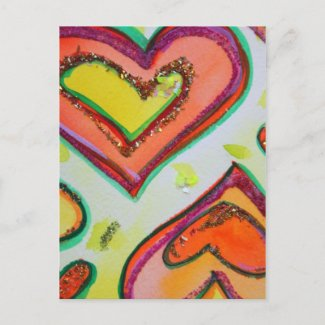 Laugh Hearts Postcard postcard