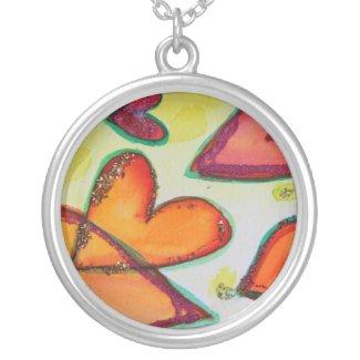 Laugh Hearts Silver Necklace necklace