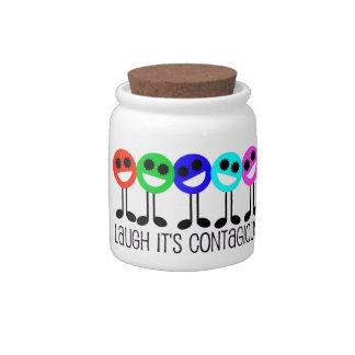 Laugh it's Contagious Candy Jar