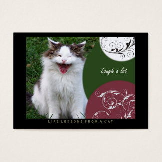 Laugh Life Lessons From a Cat ACEO Art Cards